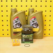 Piaggio MP3 500 Ölwechselset Ölfilter Hiflo Öl Zündkerze Agip eni i-Ride 5W-40