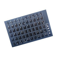 English QWERTY Laminated Non-Transparent Keyboard Stickers White Letters