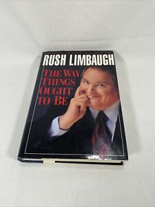Rush Limbaugh The Way Things Ought to Be 1992 Hardcover Book