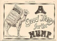 1900 ANTIQUE PRINT -  ADVERT-OGDEN'S GUINEA GOLD-CAMEL