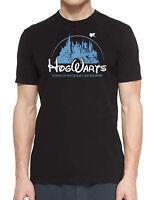 Harry Potter Hogwarts Blue Castle T-Shirt Disney Style Unisex Gift  Tee Shirt