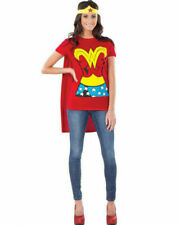 Rubie's Wonder Woman T-Shirt and Cap, Size Small - Red