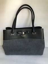 KATE SPADE New York Wool and Leather Shoulder Bag Tote