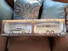 1:18 Norev V8 Simca Chambord & Henon La Caravan Camper Trailer.  RARE NOS