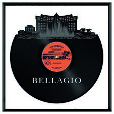 Bellagio Hotel and Casino with Fontaine Vinyl Wall Art Room Decoration Framed
