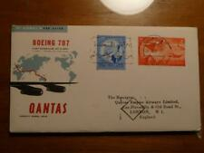 1959 Boeing 707 Qantas Cover Egypt / England Used Condition Sku#16146