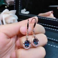 Gorgeous 925 Silver Drop Earrings for Women Cubic Zircon Jewelry A Pair/set