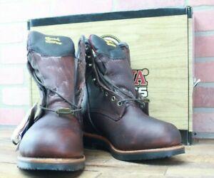 Chippewa 25258 Brown Steel Toe Waterproof Men's Work Boot Size 8.5EEE