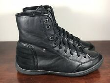 Men's Kenneth Cole Sneak Preview LE Black High Top Sneakers Shoes Size 10