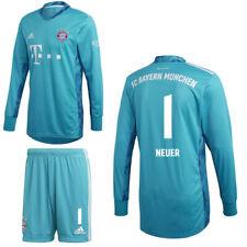 Adidas FC Bayern Munich Mens Kids Goalkeeper Kit 2020/21 Neuer 1 Shirt Shorts