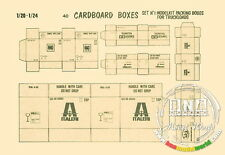 Verlinden Productions 1/20, 1/24 Cardboard Boxes/Model Brands for Truckloads