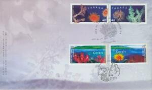 2002 Canada Post # 1948-51 🍁🐚 CORALS 🐚 Hong Kong Joint Issue 🍁 OFDC