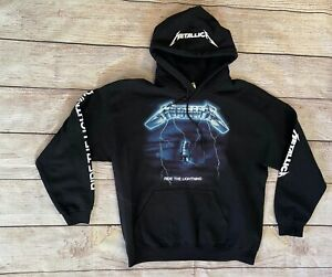 Metallica Ride the Lightning Hoodie Men's Sweatshirt Album Size Large L