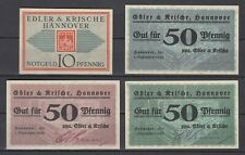 Hannover  -  Edler & Krische  -  10 u. 3x 50 Pfennig            (V11)