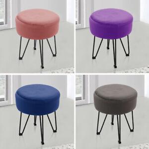 Dressing Table Stool Bedroom Makeup Chair Seat Ottoman Velvet Footstool Footrest