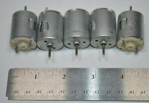 Lot of 5 NEW Mabuchi RC-280 Motor 4.5-8.4 VDC - 14260 RPM / 7.2 VDC  R/C Toy