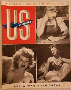 1944 WWII Era US CAMERA Photography Camera Magazine Ansel Adams & Pin-Up Girls