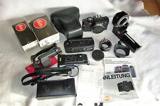Grande di konvolt Leitz-Leica r4 SLR-VIDEOCAMERA + ACCESSORI ORIGINALE raccolta Top