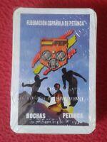 BARAJA DE CARTAS PLAYING CARDS NAIPES FEDERACIÓN ESPAÑOLA PETANCA BOCHAS PÉTANQU