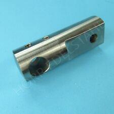 Edelstahl Querstabhalter für Flach - Anschluß x 12mm
