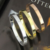 Charm Unisex Men Lover Stainless Steel Polished Cuff Bangle Bracelet Wristband