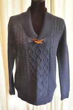 *National Geographic* BNWT Dark blue arran knit alpaca blend sweater S (UK 14)