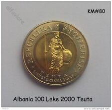 Albanien Albania 100 Leke Lek TEUTA Königin von Illyrien Bimetal KM#80 UNC