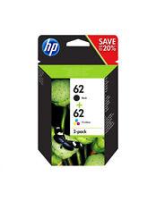 HP 62 Noir & Couleur Pack 2 cartouches d'encre authentiques ENVY 5540 5640 7640