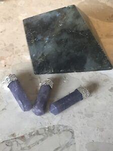 Lepidolite Point Pendant, Healing Crystal, Purple Positive Stone,Gift Idea