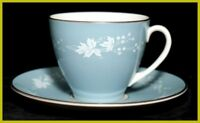 Royal Doulton Reflection Small Coffee Cups & Saucers 1st Quality Very Good Condi
