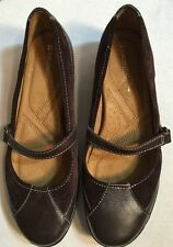 Naturalizer Brown Leather Mary Jane Flats Shoes Size 7.5M