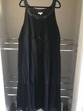 Autograph branded Ladies PLUS size 22 Black satin pleat Dress **BNWT
