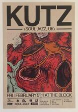 DJ KUTZ (Soul Jazz / UK) – Live in Tel-Aviv 2010 –Advert Flyer / Bill 