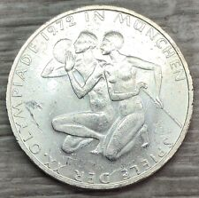 1972 Germany Munich Olympics 10 Mark Silver Coin (G421)