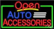 "New ""Open Auto Accessories"" 37x20x3 Border Real Neon Sign W/Custom Options 15450"