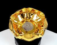 """LE MIEUX  24KT GOLD AND PLATINUM COURTING COUPLE 5 3/8"""" BOWL / ASHTRAY"""