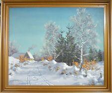 OTTO EILERTSEN! WINTER LANDSCAPE COVERED IN SNOW