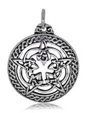 925 solid Sterling Silver Wicca Neo Pagan Pentagram Pentacle Star pendant