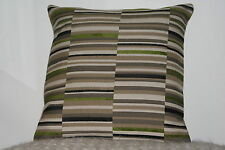 Cushion Cover Made in Sanderson chenille stripe olive
