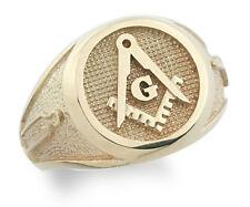 New Mens 18K Solid Gold  Masonic Master Mason Ring