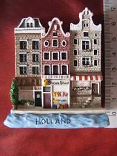 Holland Old Houses Dutch Amsterdam Canal Europe 3D Fridge Magnet Refrigerator