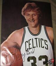 1979 Original 19X25in. Boston Celtics Larry Bird Basketball 7Up Poster - MINT