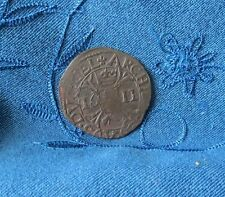 1611 Spanish Netherlands Liard Copper World Coin Albert & Isabella
