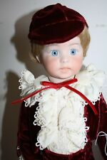 Paul boy fully Porcelain Bisque doll Handmade Victorian outfit