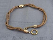 schöne alte Taschenuhrkette Haarkette ca.um 1860