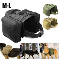 Military Dog Working Harness Vest For Medium Large Dog Training Nylon With Bags