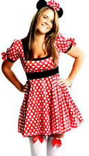 Womens Minnie Mouse Disney Fairy Tale Ladies Fancy Dress  Costume Size 12 - 14