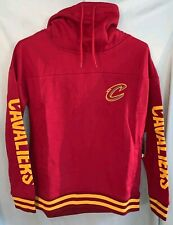 NBA Cleveland Cavaliers Womens Fleece Hoodie Pullover Sweatshirt Funnel Neck Med