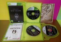 Elder Scrolls IV V Oblivion + Skyrim - XBOX 360 2 GAME Lot Tested Complete