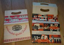 2 Stück Minol DDR Papiertüte Tüte Reklame Werbung Beutel *selten* unbenutzt